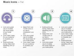 Cc Headphone Speakers Megaphone Volume Buttons Ppt Icons Graphics