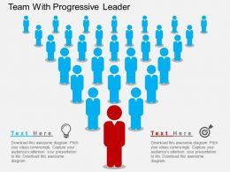 cc Team With Progressive Leader Flat Powerpoint Design