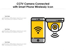 CCTV Camera Connected With Smart Phone Wirelessly Icon