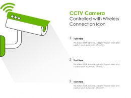 CCTV Camera Controlled With Wireless Connection Icon