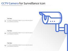 CCTV Camera For Surveillance Icon