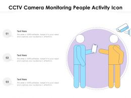 CCTV Camera Monitoring People Activity Icon