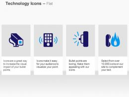Cctv Camera Wifi Fire Symbol Ppt Icons Graphics