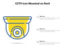 CCTV Icon Mounted On Roof