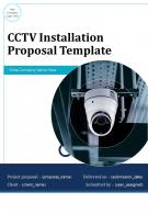 CCTV Installation Proposal Example Document Report Doc Pdf Ppt