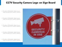 CCTV Security Camera Logo On Sign Board