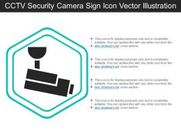 Cctv Security Camera Sign Icon Vector Illustration