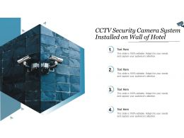 CCTV Security Camera System Installed On Wall Of Hotel