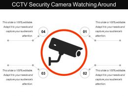 Cctv Security Camera Watching Around
