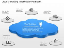 cd Cloud Computing Infrastructure And Icons Powerpoint Template
