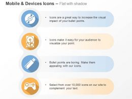 Cd Drive Cpu Pen Drive Gaming Console Ppt Icons Graphics