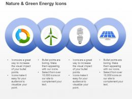 Cd Ecology And Green Energy Icons With Windmill Cfl And Solar Light Ppt Icons Graphics