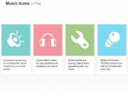 cd_loudspeaker_headphone_wrench_mike_symbols_ppt_icons_graphics_Slide01