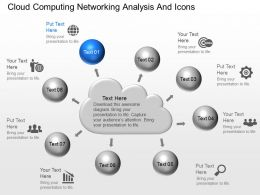 ce Cloud Computing Networking Analysis And Icons Powerpoint Template