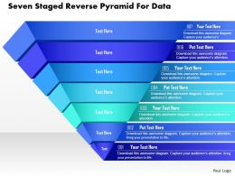 Ce Seven Staged Reverse Pyramid For Data Powerpoint Template