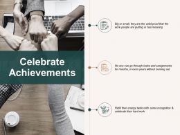 Celebrate Achievements Checklist Ppt Powerpoint Presentation Professional Show