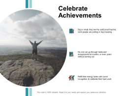 Celebrate Achievements Planning Ppt Powerpoint Presentation File Deck