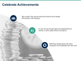 Celebrate Achievements Ppt Powerpoint Presentation Pictures Background Designs