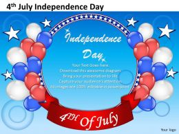 Celebrate Independence Day This 4 July Powerpoint Presentation Slides