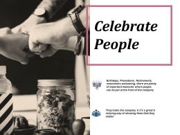 Celebrate People Marketing Ppt Infographics Example Introduction