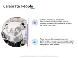 Celebrate People Ppt Powerpoint Presentation Layouts Background Image