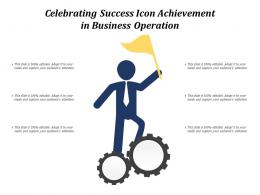 Celebrating Success Icon Achievement In Business Operation