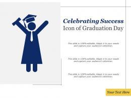 Celebrating Success Icon Of Graduation Day