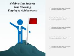 Celebrating Success Icon Showing Employee Achievement