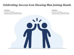 Celebrating Success Icon Showing Man Joining Hands