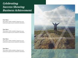Celebrating Success Showing Business Achievement
