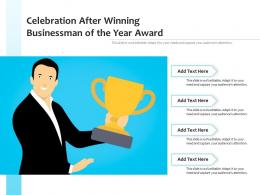 Celebration After Winning Businessman Of The Year Award