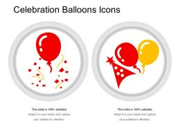 Celebration Balloons Icons