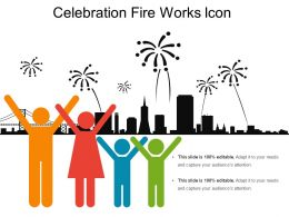 Celebration Fire Works Icon