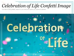 Celebration Of Life Confetti Image