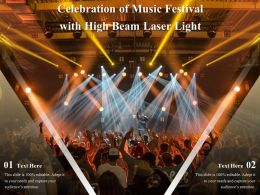Celebration Of Music Festival With High Beam Laser Light