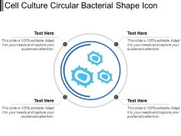 Cell Culture Circular Bacterial Shape Icon