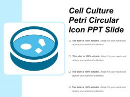 Cell Culture Petri Circular Icon Ppt Slide