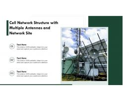 Cell Network Structure With Multiple Antennas And Network Site