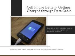 Cell Phone Battery Getting Charged Through Data Cable