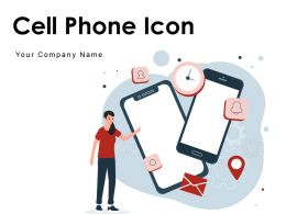 Cell Phone Icon Internet Connection Allowed Sign Reminder Bell Selfie Stick Vibration
