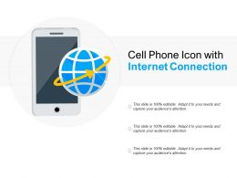 Cell Phone Icon With Internet Connection