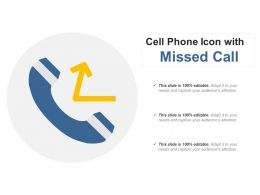 Cell Phone Icon With Missed Call