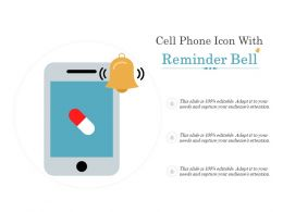 Cell Phone Icon With Reminder Bell