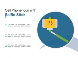 Cell Phone Icon With Selfie Stick
