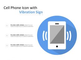 Cell Phone Icon With Vibration Sign