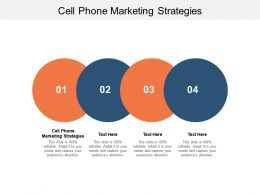 Cell Phone Marketing Strategies Ppt Powerpoint Presentation Model Cpb