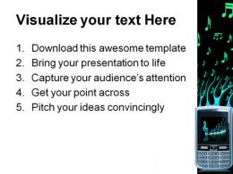 Cell Phone Music PowerPoint Template 0610  Presentation Themes and Graphics Slide03