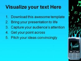 Cell Phone Music PowerPoint Template 0610  Presentation Themes and Graphics Slide02