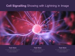 Cell Signaling Showing With Lightning In Image