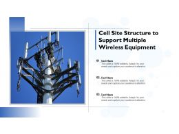 Cell Site Structure To Support Multiple Wireless Equipment